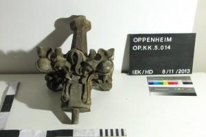 Kreuzblume vom hölzernen Prospekt der Walckerorgel, um 1871