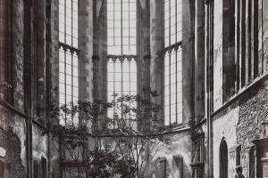 Oppenheimer Westchor vor der Restaurierung, 1877